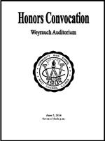 Honors Night Program Features Academic Achievements of the Class of 2014