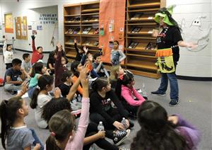 3rd graders learn about Halloween safety.