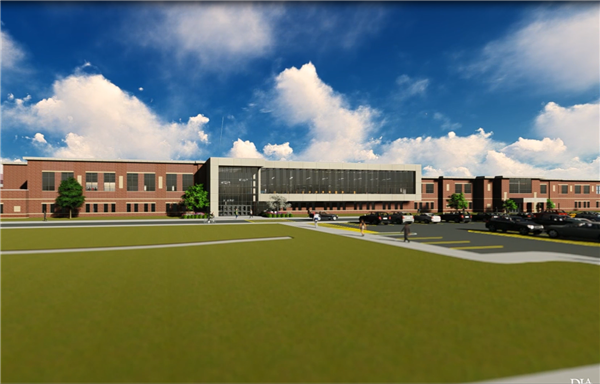 Rendering of 2nd floor addition to West Chicago Community High School