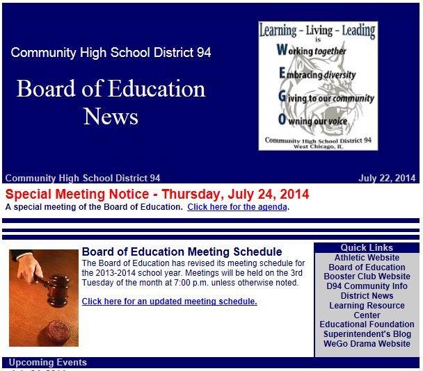 Board of Education News