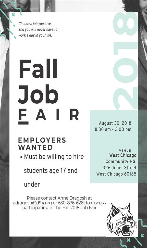 Employers Needed for Fall Job Fair
