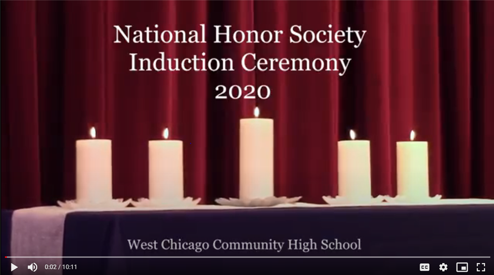 National Honor Society 2020 Virtual Induction Ceremony