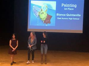 Painting awards at Upstate Eight Art Show