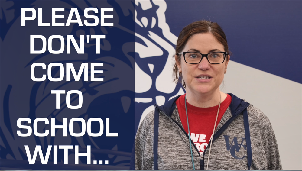 Video:  Please don't come to school with symptoms!