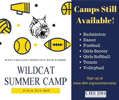 Summer Sports Camps Still Available
